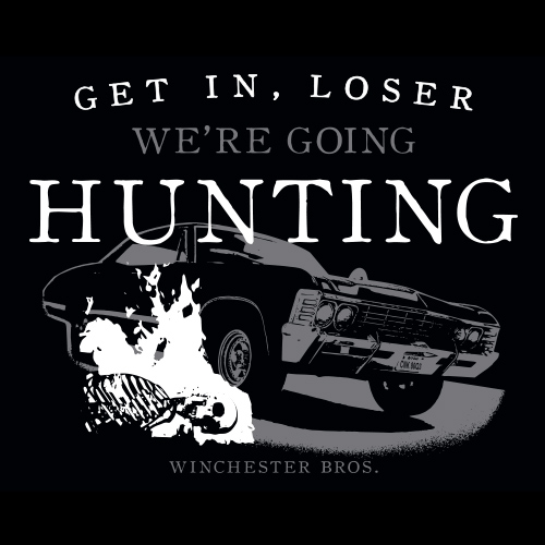 We're Going Hunting Supernatural Car T-Shirt