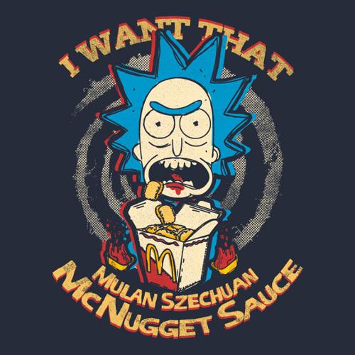 Want that Mulan Szechuan McNugget Sauce Shirt u2013 Rick and Morty ...